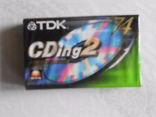 TDK CDing2 74 Cassetta Audio Sigillata Sealed Blank Vintage Tape NUOVE NEW NOS