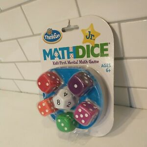 Thinkfun Math Dice Jr Mental Game With Bag Multi Player Training New