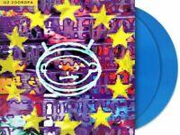 "U2 "" ZOOROPA "" Limited BLUE Vinyl 2 LP Set 180 Gram Brand NEW Factory Sealed"