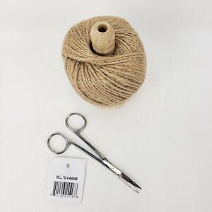 CTW Twine String Holder With Scissor Set For Art Craft Gardening Packaging Decor