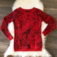 Desigual Brocade Acrylic Women's Pullover Sweater Size S