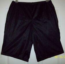 "BLACK NYLON TRICOT Long Boxers PETTIPANTS & PANTY Combo * 12"" INSEAM * 32 - 44"""