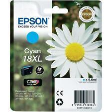 T181240 Original Epson 18XL Cyan, T1812 Daisy Claria Ink - C13T1124010