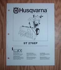 HUSQVARNA ST 276EP SNOW BLOWER OWNERS MANUAL