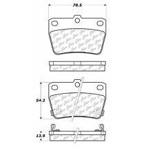 Disc Brake Pad-C-TEK Ceramic Brake Pads Rear Centric fits 04-05 Toyota RAV4