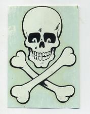 vtg impko water decal skull pirate skull and bones hot rod drag race motorcycle