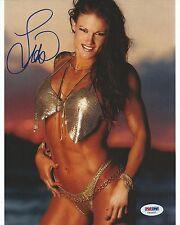 Lita Amy Dumas Signed WWE 8x10 Photo PSA/DNA COA Picture Autograph Diva Bikini 1