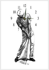 Golfer Man  Wall clock  Ben Hogan  can personalise free