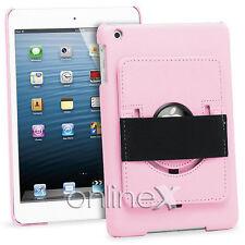 Funda Modelo Piel para iPad 2,iPad 3,iPad 4 Soporte Rotatorio Rosa a0749