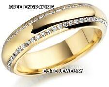 10K GOLD LADIES ANNIVERSARY DIAMOND WEDDING BANDS WOMENS RING