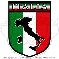 ITALY Italian Shield ITALIA Italic 100mm Bumper Sticker
