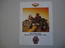 advertising Pubblicità 1990 HARLEY DAVIDSON WATCH OROLOGIO
