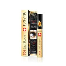 EVELINE SOS LASH BOOSTER MULTI PURPOSE EYELASH SERUM ARGAN OIL DOUBLE VOLUME
