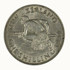 New Zealand 1934 Shilling Coin aUNC