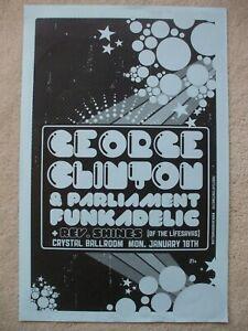 George Clinton Parliament Funkadelic concert poster Jan 18 2010 Portland Oregon