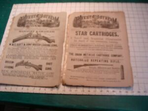 2 Original issues of FOREST & STREAM, ROD & GUN -great gun ads, WOW both 1880