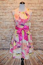 Modcloth Friendship Feast Dress NWT 4 Eliza J $160 fucshia  grosgrain floral