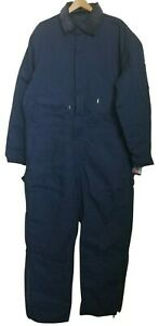 Walls Blizzard Pruf Mens Navy Blue Twill Insulated Hollofil Coveralls 2XLT NWT