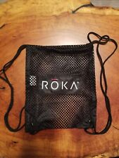Small Roka Mesh swim beach draw string back pack Bag 11x9""