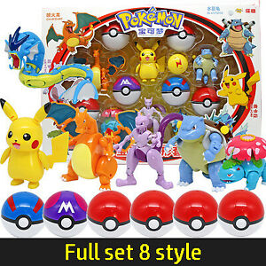New Pikach Pokemon Poké Ball Deformation Doll Action Figure Child Kids Toy Gift