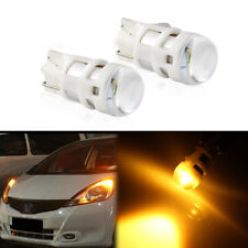 2pcs T10 W5W 2825 LED Amber Yellow Super Bright  For Parking Position Lamps