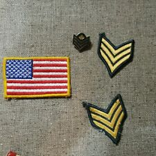 Vintage Military Patches and pin