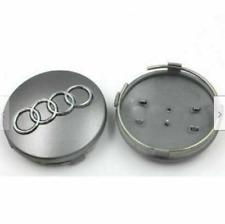 4pcs/set Emblem Wheel Center Cap Logo Badge Cover Car Hub Gray 60mm for AUDI