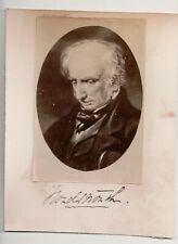 Vintage CDV William Wordsworth English Romantic Poet