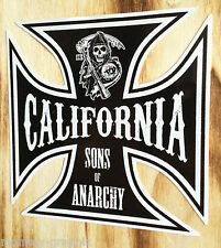 Sticker Sons of Anarchy Sticker Iron Cross Oldschool Bike Bobber Chopper