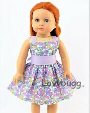 """Easter Egg Dress for American Girl 18"""" or Bitty Baby 15"""" Doll Clothes US SLR"""
