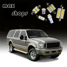White  Pieces Interior Led Light Bulbs Package Fit For Ford Excursion