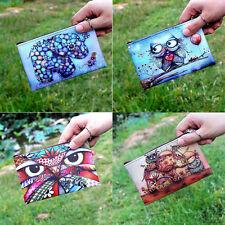 Owl/Elephants/Girl Printing Zipper Coin Purse Zero Wallet Change Pouch Money .