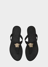 e0c8506a1 Versace Palazzo Rubber Thong Sandals with Medusa Logo Made in Italy