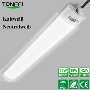 LED Feuchtraumleuchte Wannenleuchte Lampe Röhre Keller Werkstatt 60/120/150 cm