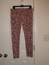 BENCH QUARTZ PINK JUICY PRINT LOUD SPEAKER ZIPPER SKINNY STRETCH JEANS SIZE 28