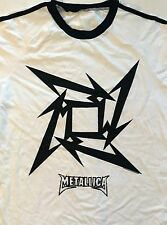 METALLICA cd cvr Beyond Magnetic STAR SOCCER Official WHITE JERSEY SHIRT LRG new
