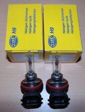 2x Hella H9 Glühlampe Birne Glühbirne Leuchtmittel Halogen 12V 65W PGJ19-5 NEU
