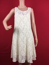 Free People Miles of Lace Sleeveless Dress Ivory S $128 MONIART