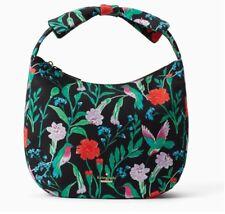 New Kate Spade haring lane corinne PXRU7799 black multi floral red green bag