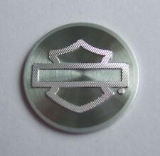 Harley-Davidson® Bar&Shield® Aufkleber Sticker Emblem Aluminium silber Ø 18,8mm