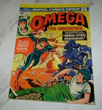 Omega the Unknown #1 Unrestored 1976 Marvel Bronze age Factory miscut/uncut