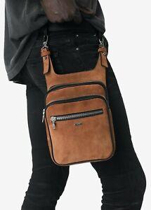 AMIRI Side Hip Pouch Suede | Tobacco | Zipper | 100% Authentic | Zip Pouch