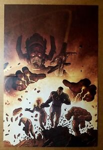 Fantastic Four Silver Surfer Galactus Marvel Comics Poster by Ladronn Kirby