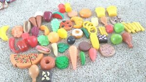 Lot 66 Pieces Play Food Vegetables Fruit Meat Pizza Vegetables