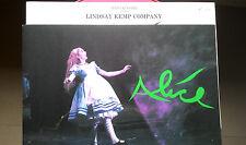 Programma sala - Lindsay Kemp Company - Alice - Lewis Carroll - Julio Alvarez