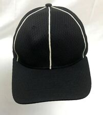 Umpire Referee Official Vented Richardson Black Embroidered SZ 7 1/4 Hat Cap