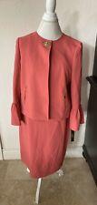 Tahari by Arthur S. Levine Women's Ruffle Tulip Sleeve Jacket Dress SZ 10 $280