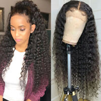 9A Real Remy Malaysian Virgin Human Hair Wigs Lace Front Wig Deep Wave Curly Njh