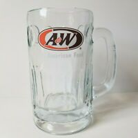 """A & W Mug Root Beer Float Heavy Thick Glass Vintage Collectable Cup 6"""" Tall A&W"""