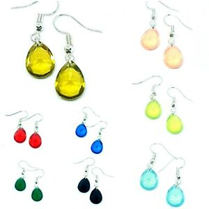 Glass Crystal Drop Earrings - Perfect Gift